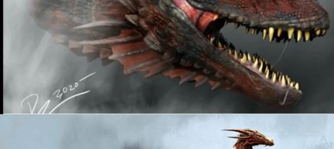 Premier Concept Art des dragons de la série