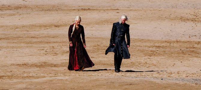 Photos du tournage : Rhaenyra Targaryen et Daemon Targaryen